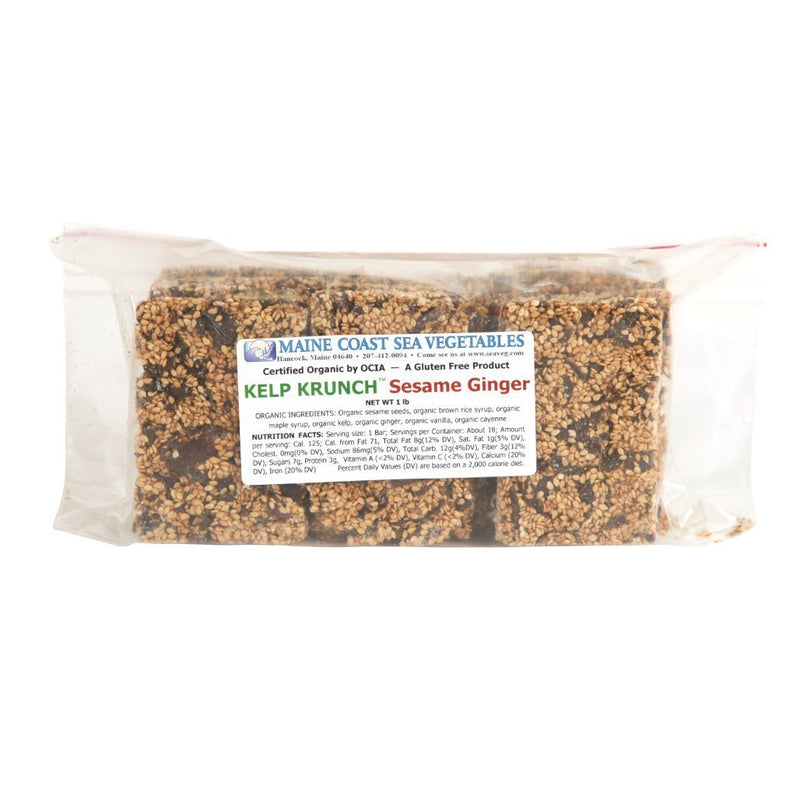 Kelp Krunch™ Sesame Ginger - Organic 1 LB - Maine Coast Sea Vegetables