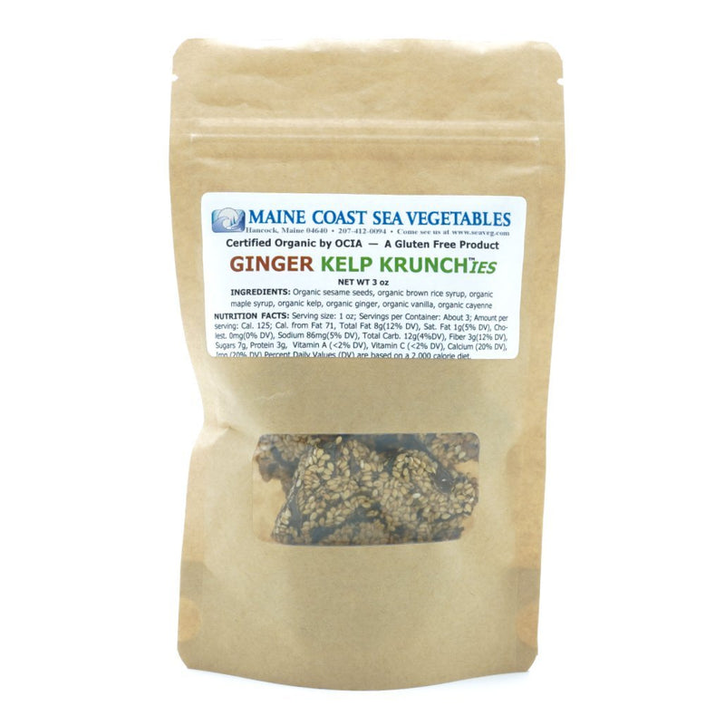 Kelp Krunch™ Sesame Ginger - Organic Krunchies - Maine Coast Sea Vegetables