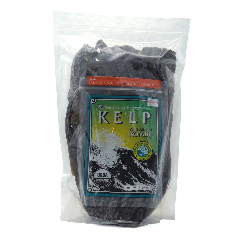 Kelp (Sugar) Whole Leaf - Wild Atlantic Kombu - Organic 1 LB - Maine Coast Sea Vegetables