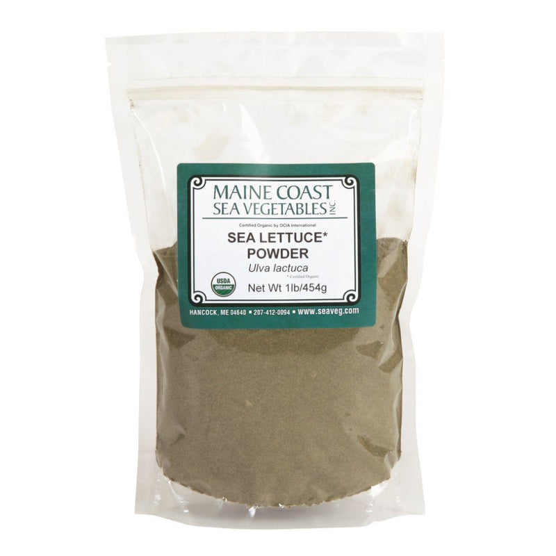 Sea lettuce Powder - Wild Atlantic - Organic 1 LB - Maine Coast Sea Vegetables