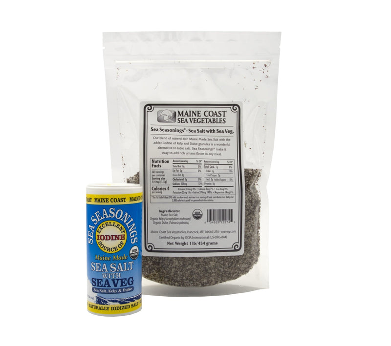 Sea Salt with Sea Vegetables - Sea Seasonings Bulk - Organic 2 LBS - Maine Coast Sea Vegetables
