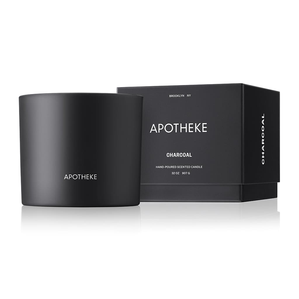 Charcoal 3-Wick Candle - Apotheke Co3-Wickapothekebrooklyn
