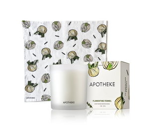 Florentine Fennel Candle + Tea Towel Bundle