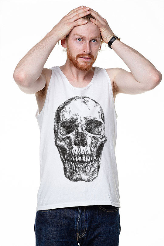 Connect the Dots or Die - Men Tank Top white
