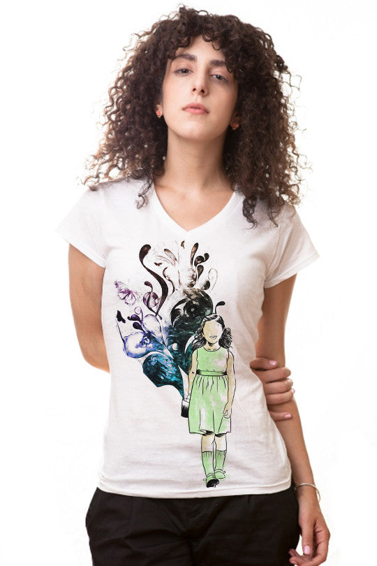 creativity-abstract t shirt women