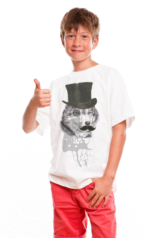 Dandy Wolf  Kid Shirt