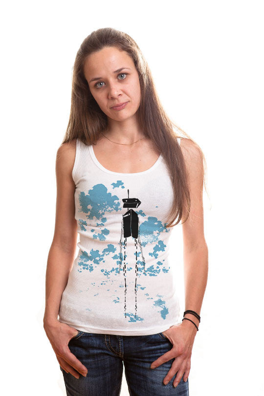 Graphic Robot Tank Shirt women