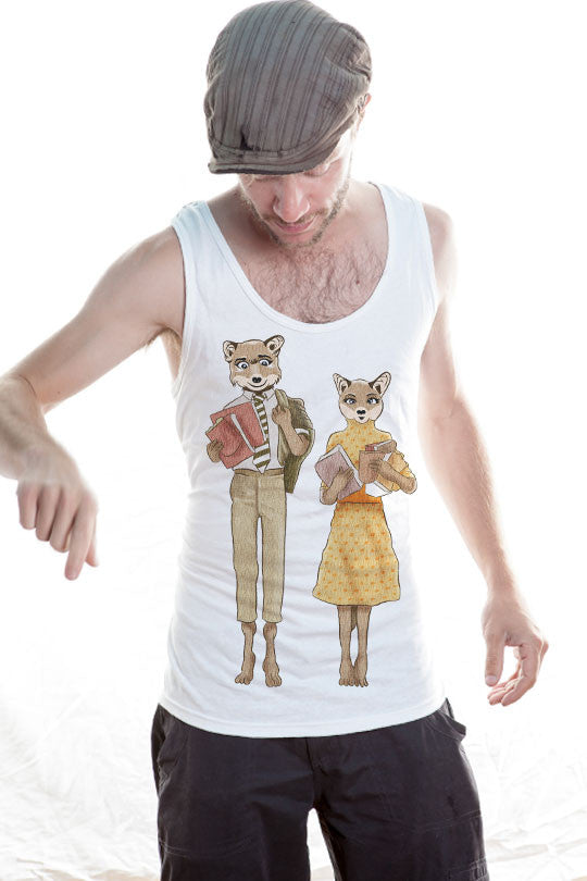 Cute Fox Love Tank Top Shirt men
