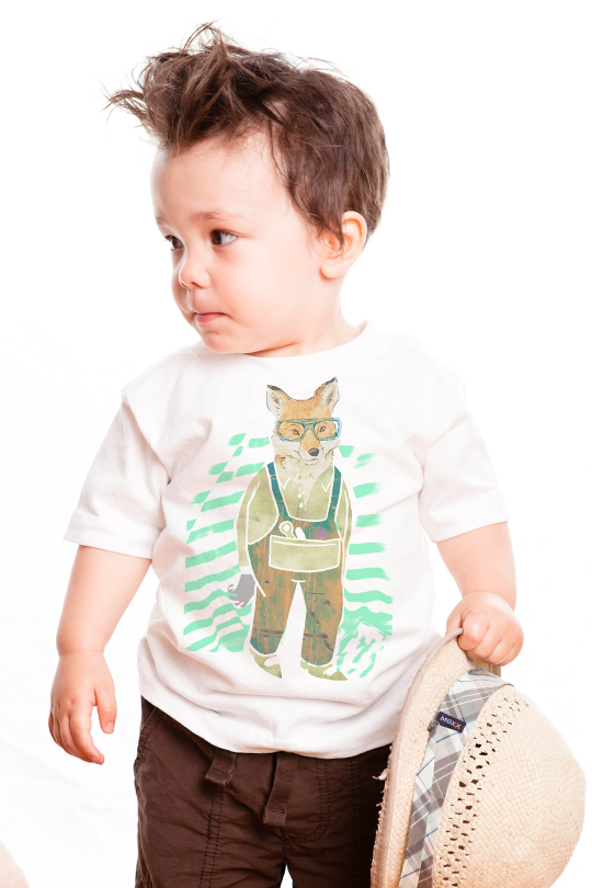 Hard Working Fox Children T-Shirt kid