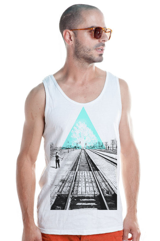 cool abstract tank top shirt  men