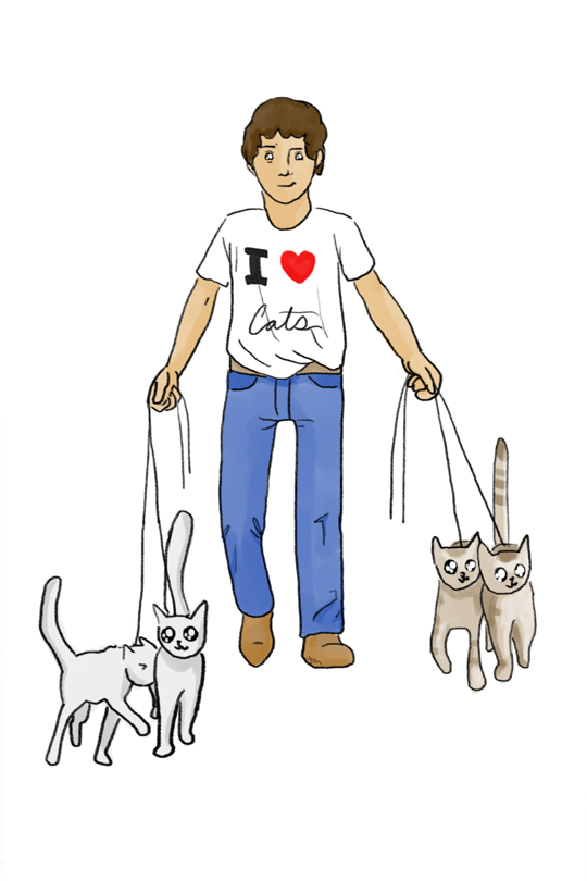 I Love Cats  Kid T-Shirt art