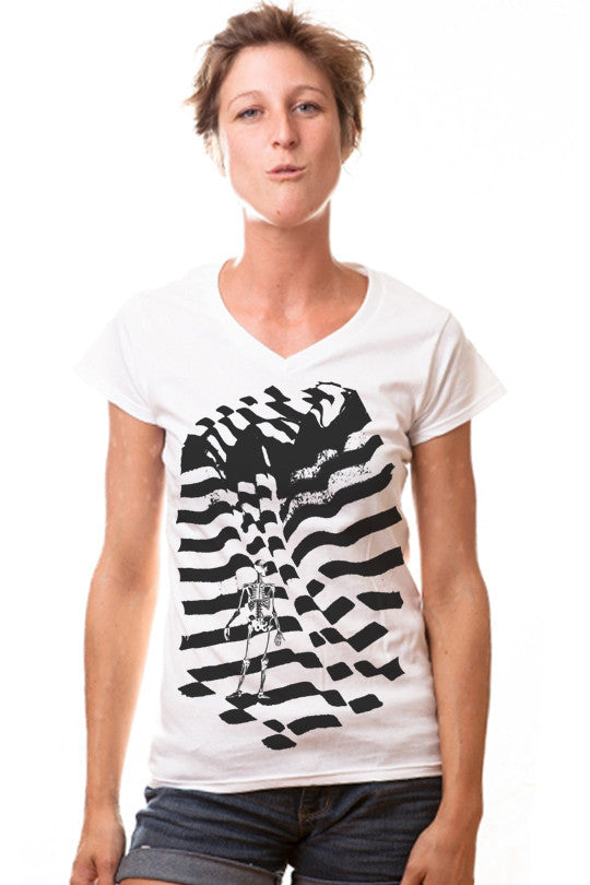 inverted-abstract t shirt women