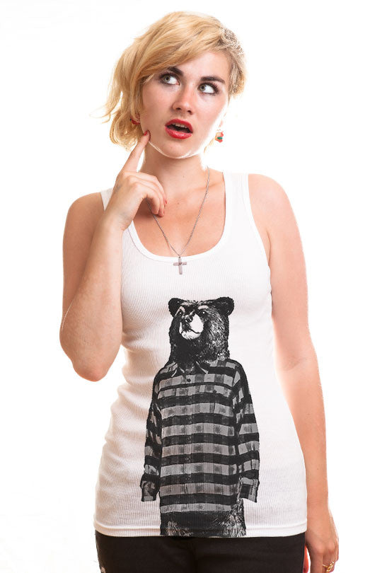 Cool bear tank top graphic shirt women
