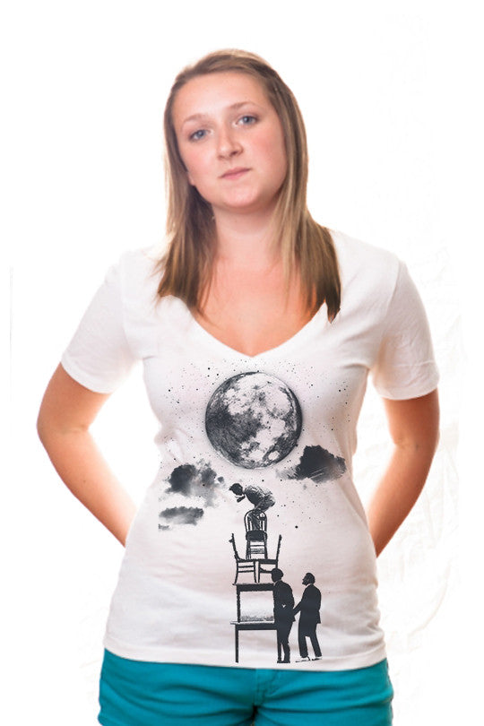 the-sky-is-the-limit space t shirt women