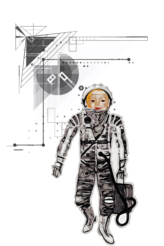 Space Baby Kid T-Shirt art