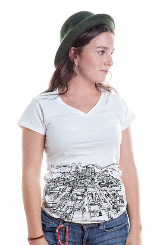 springfield-map-pop culture tee women