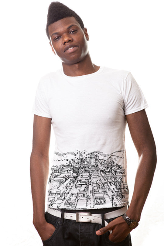 springfield-map-pop culture tee men