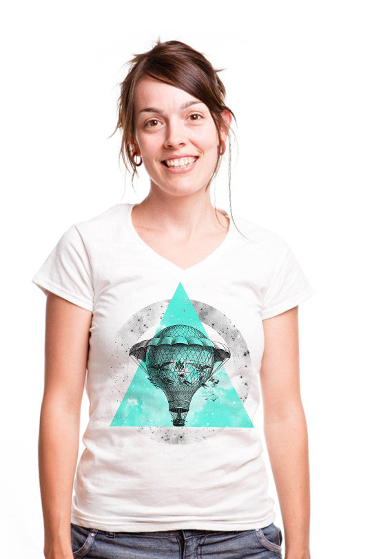 time-machine-space-graphic-shirt women