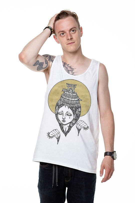 Transcendence - Men Tank Top Made By Artist Amy Goh