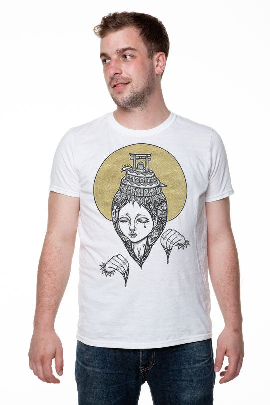 Transcendence T-shirt Made by Artist Amy Goh men