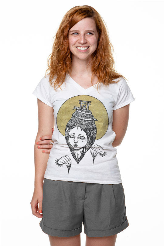 Transcendence T-shirt Made by Artist Amy Goh women