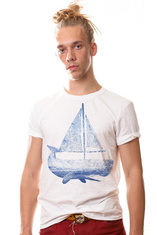whale-boat-abstract graphic tee men