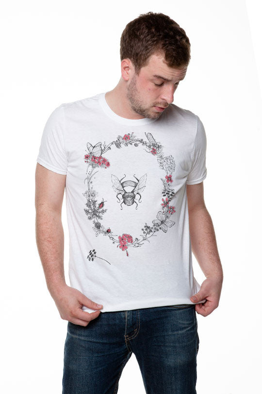 Michela Tannoia - Bee Flowers - T-Shirt men