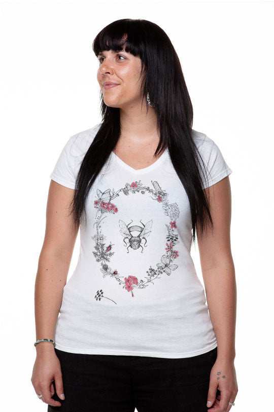 Michela Tannoia - Bee Flowers - T-Shirt women