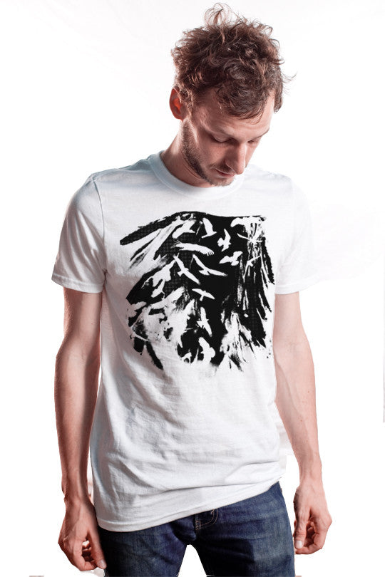 cut-out-birds graphic t shirt men