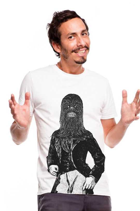 dandy-chewie-star wars tee men