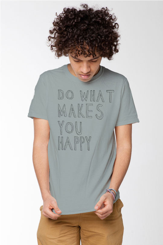 Happy - Men T-Shirt grey