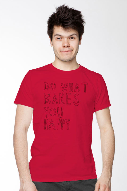 Happy - Men T-Shirt red