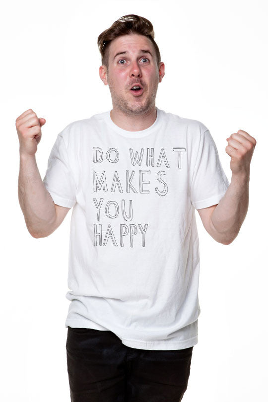 Happy - Men T-Shirt white