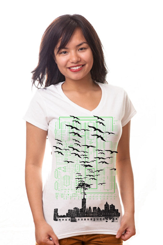 electri-city-nature tee women