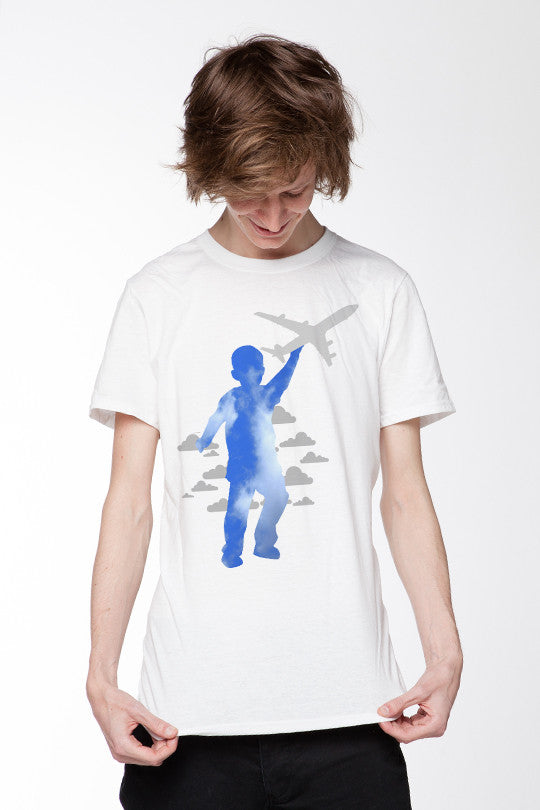 Sky High Abstract Graphic Tees men