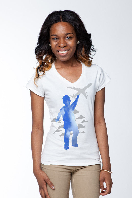 Sky High Abstract Graphic Tees women