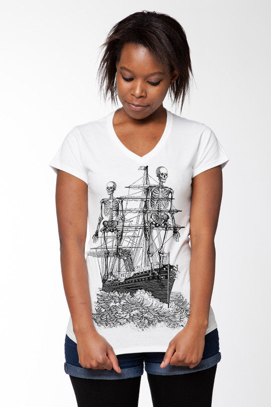 Ghost Ship Vintage T-Shirt women
