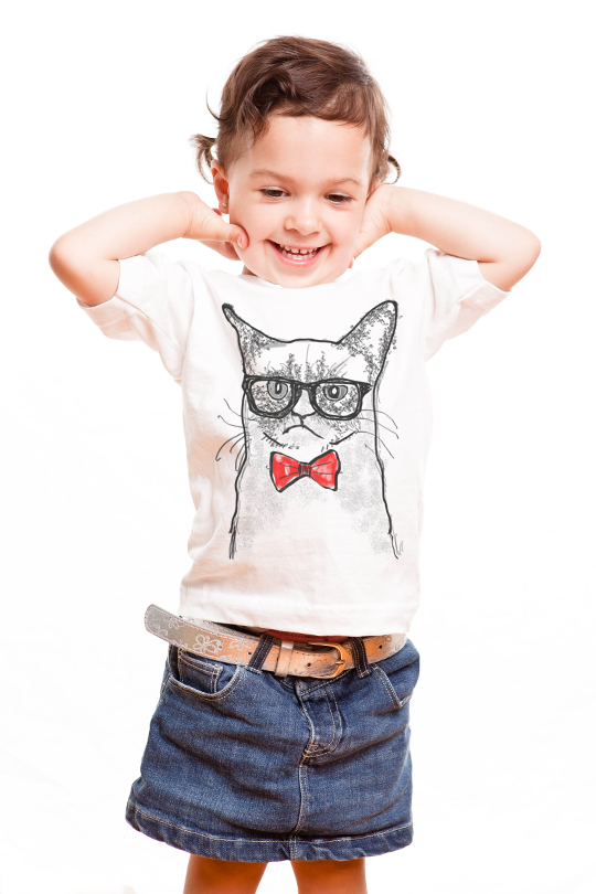 Grumpy Cat Kid T-Shirt girl¸