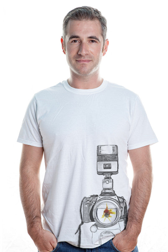 fish-eye funny tee men
