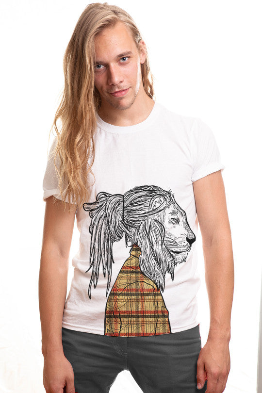 fashion-lion graphic t shirt men