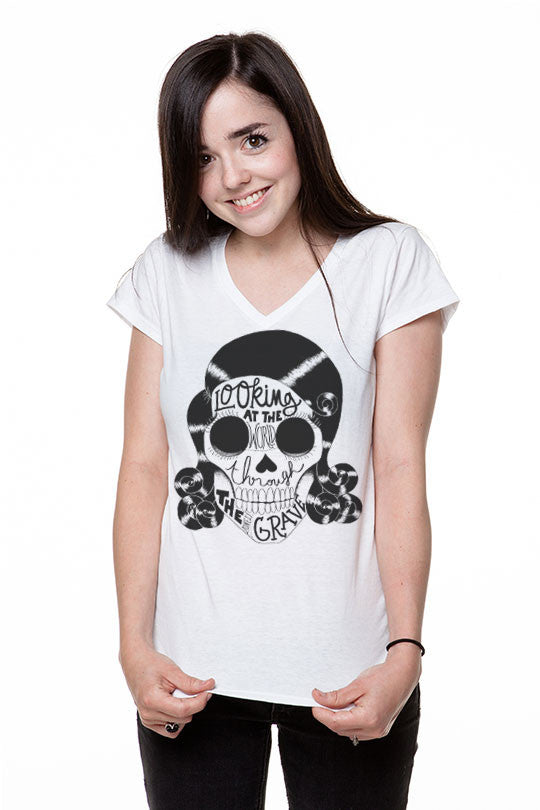 Marylou Faure - Skull - Women T-Shirt white