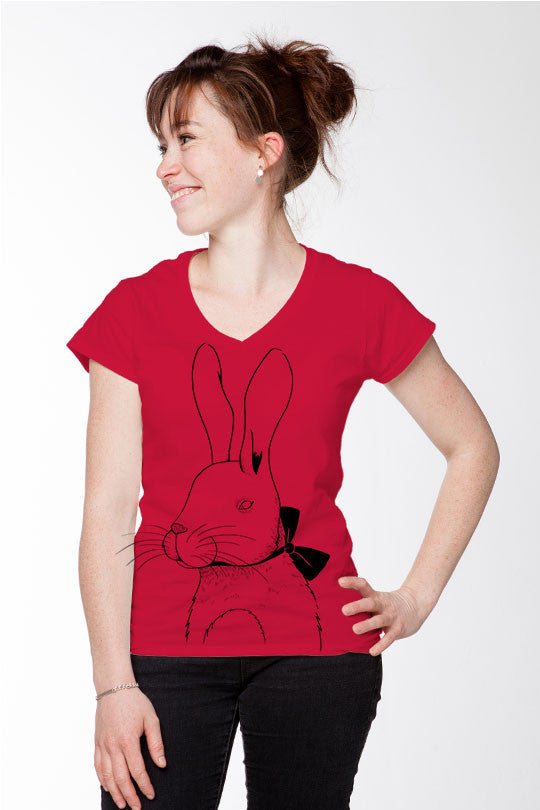 Marylou Faure - Rabbit - Women T-Shirt red