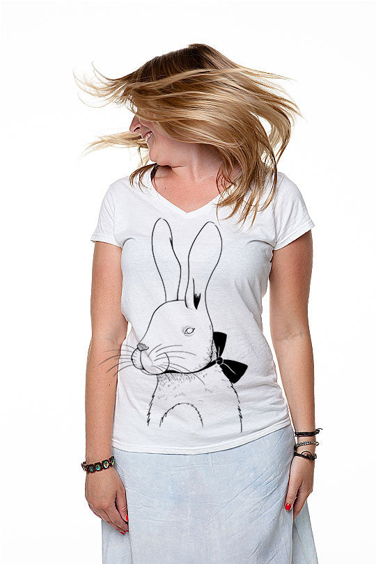 Marylou Faure - Rabbit - Women T-Shirt white