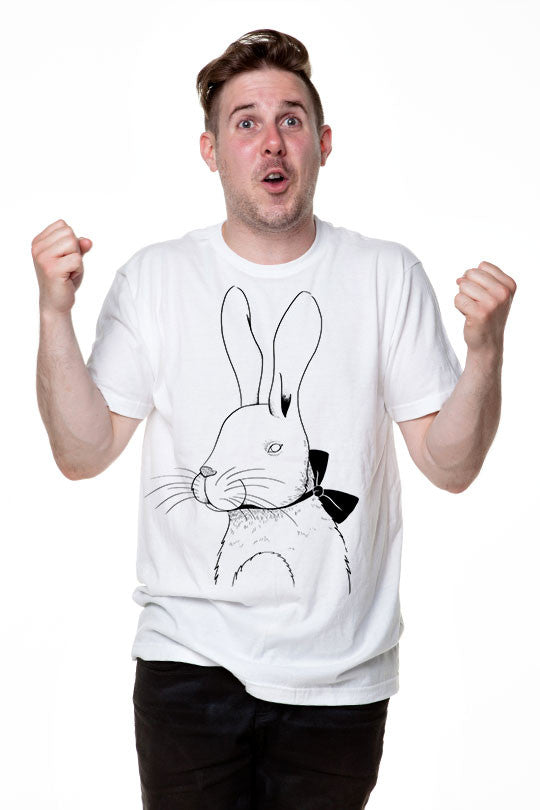 Marylou Faure - Rabbit  - Men T-Shirt white