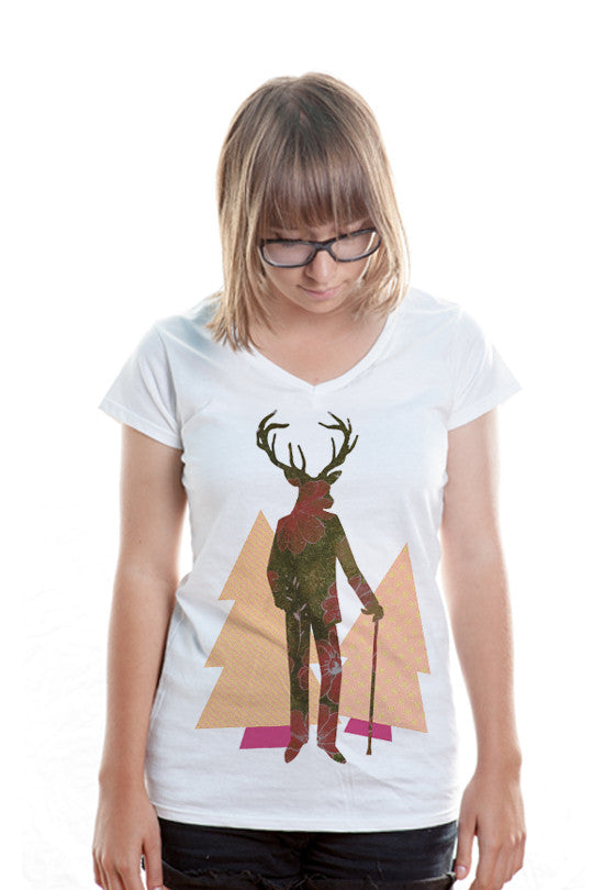 mr-deer t shirt women