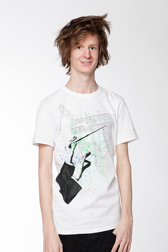 Invisible Music Graphic T-shirt men