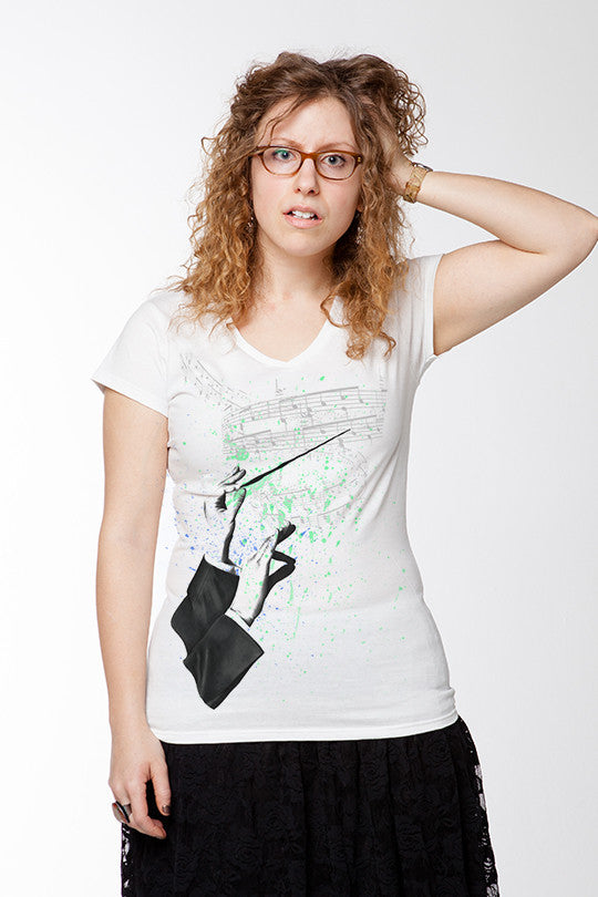 Invisible Music Graphic T-shirt women