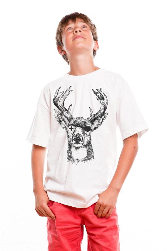 Deer Pirate Kid T-Shirt