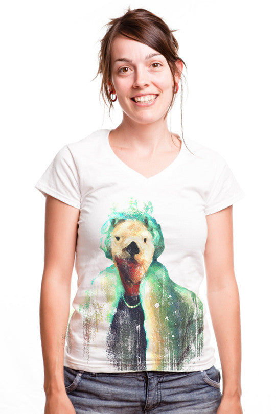 polar-queen graphic tee women
