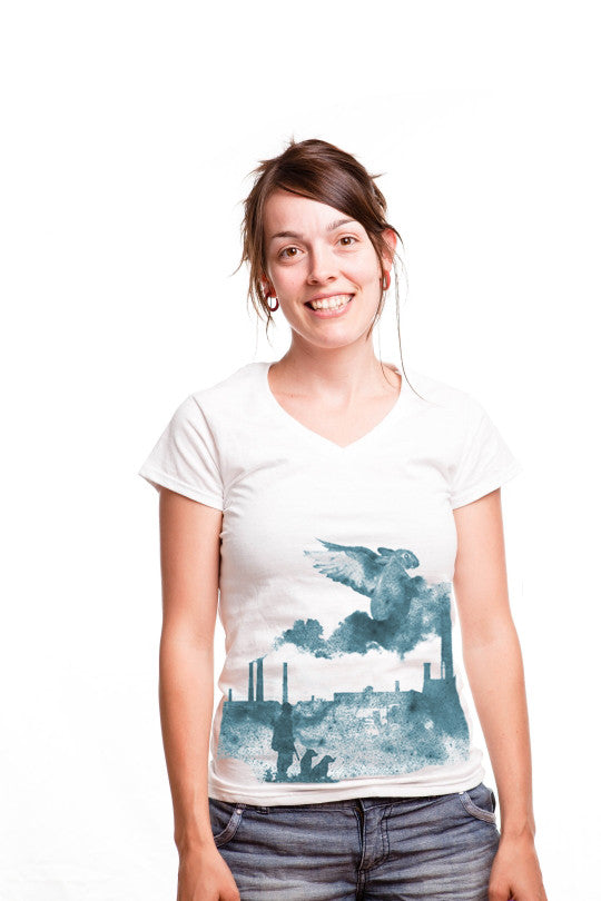 rabbit-abstract t shirt women